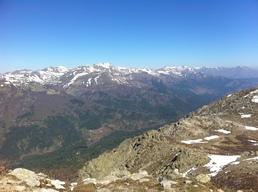 Vue sur le massif du Renoso