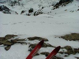 Ski de pente raide à la brèche Félix