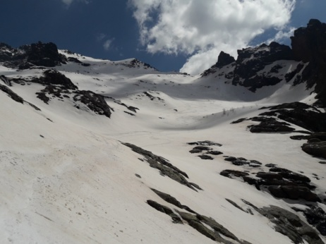 Pointe des éboulis par la vallée d'Ascu