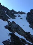 Bocca Minuta partie haute : un champ de neige