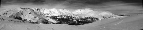 Vue sur Scaldasole et Renoso (depuis Monte Grosso)