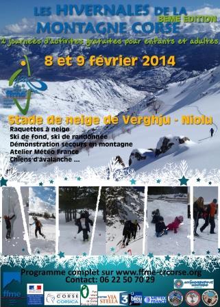 Les hivernales de la FFME le 8 et 9 février prochain à Verghju